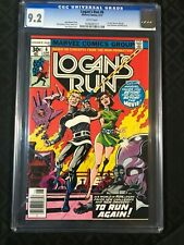 Logan's Run #6 CGC 9.2 NM- 1977 1st Solo Thanos story