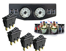 Air Ride Suspension Dual Needle Gauges Panel 150psi 4 Rocker Switch Control fbss