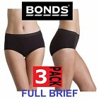 3 x BONDS WOMENS COTTONTAILS FULL BRIEF UNDERWEAR BLACK PLUS SIZE 10-18
