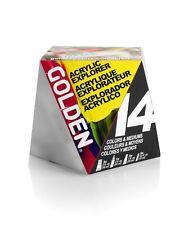 Golden A-Z Artist Acrylic Set 14 or 30 Sample Set - Heavy Body, Fluid & Mediums