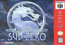 Mortal Kombat Mythologies Sub-Zero Nintendo 64 N64 Authentic OEM Rare Video Game