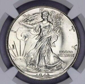 1943-P 1943 Walking Liberty Silver Half Dollar 50c NGC MS 67