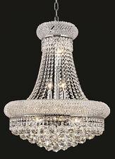 "World Capital Bangle 20x26""14 Light Dining Crystal Chandeliers light - Chrome"