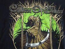 CHILDREN OF BODOM Heavy Metal Brown Grim Reaper T Shirt Men's Size XL