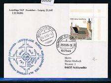 65100) LH letzte NLP Frankfurt - Leipzig 23.3.2005. Karte