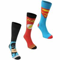 Superman Comics Crew Socks Mens 3 Pack Adults UK 7 - 11 D333
