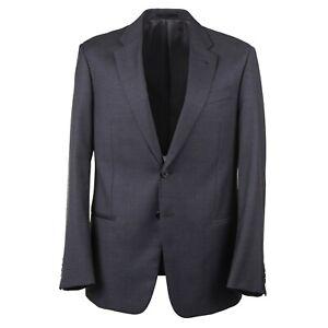Armani Collezioni 'Giorgio' Modern-Fit Solid Mid Gray Wool Suit 36R (Eu 46)