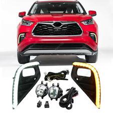 LED Front Fog Light & Driving lights Turn Signal For Toyota Highlander 2020-2021