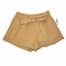 MM Couture by Miss Me Shorts Women's Medium NEW Pleated Beige Tan $62