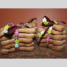Peanut Butter Oats Chicken Broth Dog Biscuits, Homemade Dog Treats - 16 cookies