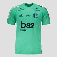 Flamengo Training w/ Sponsors Soccer Football Shirt Jersey 2020 Adidas Brazil