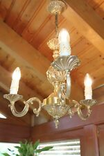 Kronleuchter im Jugendstil Deckenlampe Leuchter Hängelampe Messing o. Bronze LED