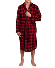 IZOD Mens Red Plaid Shawl Collar Soft Touch Bath Robe NWT $75 One Size Fits Most
