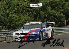 AUTOGRAMM auf Foto 13x18 cm 24h Nürburgring 2004 Pedro Lamy + HJ Stuck - BMW M3