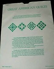 4 Vinyl Quilt Templates Great American Quilts Vintage 1987 Oxmoor House