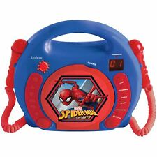 OFFICIAL MARVEL SPIDERMAN CD PLAYER WITH MICROPHONES LEXIBOOK