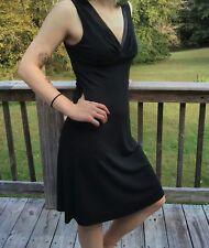 Ann Taylor 8  Loft Womens Dress-Black Sleeveless-Little Black Evening Dress-