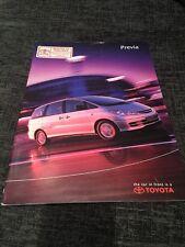 2001 Toyota Previa UK Car Brochure
