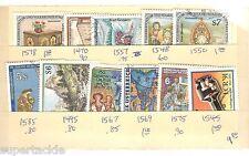 AUSTRIA 11 Θ used stamps #1578 1470 1557 1548 1550 1585 1495 1567 1569 1575 1545