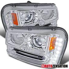 02-09 Chevy Trailblazer SMD LED DRL Strip Chrome Projector Headlights