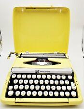 Vintage 1963 Smith-Corona Corsair Portable Typewriter made in England YELLOW