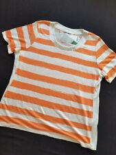 SPORTALM Kitzbühel Shirt Leinen Carlotta nasturtium  Perlenausschnitt Gr.48**NEU