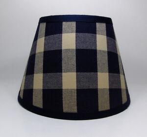 Country Waverly Navy Liberty Plaid Fabric Lampshade Lamp Shade