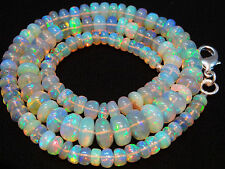 "106 CT.17""ULTIMATE QUALITY ETHIOPIAN OPAL BIG BEADS RONDELLE NECK.4.5 TO 9.5 MM"