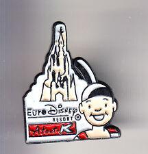 RARE PINS PIN'S .. DISNEY PARIS OPENING 1992 PHOTO KODAK RESORT CHATEAU ~14