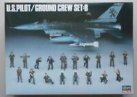 US Pilot Ground Crew Detail 1:48 Scale Hasegawa Model Kit Diorama
