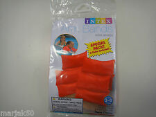 """SWIMMING ARM BANDS  FOR AGES 3-6 TWO PAIR PER PACK 7 1/2"""" X 7 1/2""""--ORANGE"""