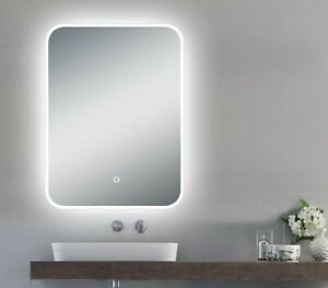 """LED Backlit Illuminated Mirror 24"""". Wall Mounted for Bathroom, Makeup."""