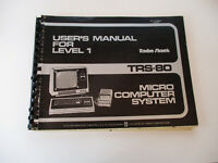 TRS-80 Radio Shack Tandy Micro Computer System Vintage User Manual 1977