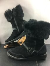 Stuart Weitzman Leather Boots With Rabbit Fur