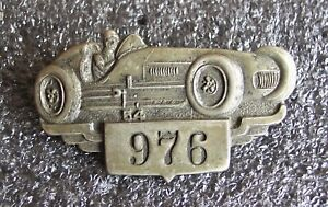 1954 INDIANAPOLIS 500 ROADSTER VINTAGE ESTATE PIT BADGE #976