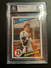 1984 Topps John Elway RC #63 BGS 8  Broncos HoF Rookie Sharp!