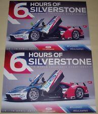 Le Mans FIA WEC 2017 Silverstone GTE Pro Winners Ford GT #67 #66 Blank Card Set