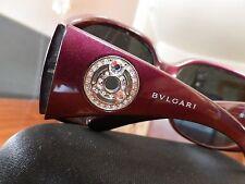 9024072a35 Bvlgari Borgoña Wrap Mujer Gafas de sol Swarovski Cristales 8009B