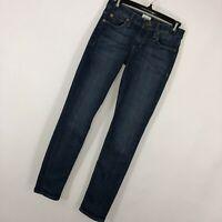 Hudson Jeans 24 Colette Midrise Skinny Slim Leg Dark Blue Wash Stretch Womens J8