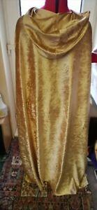 pointy hooded cloak  crushed velvet gold (c39cv) princess fantasty