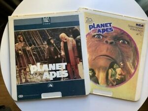 PAIR of ORIGINAL 1967 planet of the apes vintage Video Discs