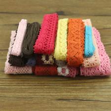 Cotton Lace Garment Sewing Fabric Decorative Crochet Lace Ribbon Handmade 10Yard