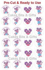 24x ABBY CADABBY 1st Birthday Edible Wafer Cupcake Toppers PRE-CUT Ready 2 Use