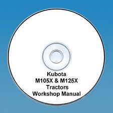 Kubota M105X & M125X Tractor  Workshop Manual