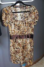 BUBU MAMA maternity women's top tunic size L 100% Chiffon