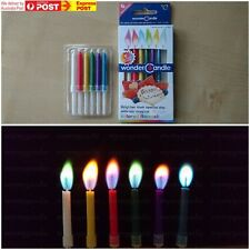 6pcs x1 Coloured Flame Candles Birthday Anniversary Party Novelty Fun Colour