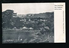 West Africa Sierra Leone FREETOWN View from Kroo Bay pre1919 PPC Lisk-Carew Bros