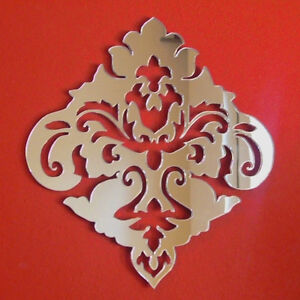 Damask Design Acrylic Mirror