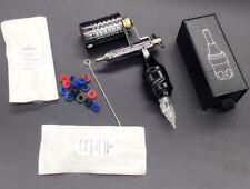 Metal Rotary Tattoo Machine Kit Alloy Grip 2Pcs Cartridge Needle Nipple Tube Set