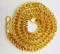"22K Gold 20"" Hollow Link Chain Necklace 19.950 Gm Wholesale Price Wedding Gift"